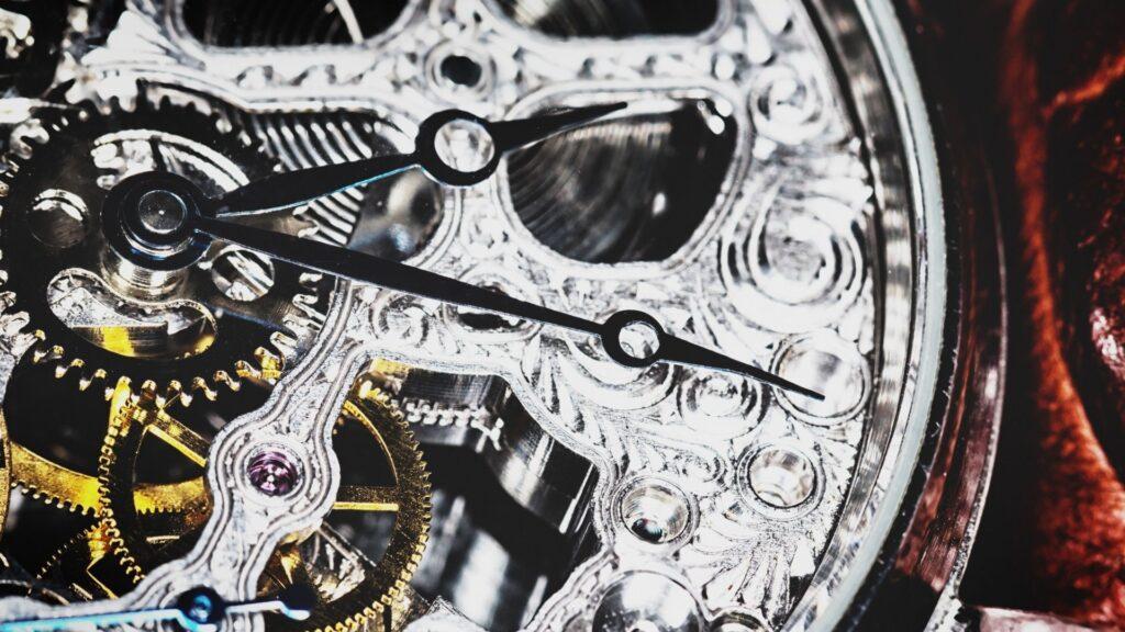 skeleton watch date display